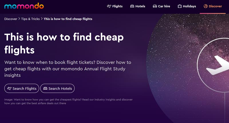 Momondo Flight Insights