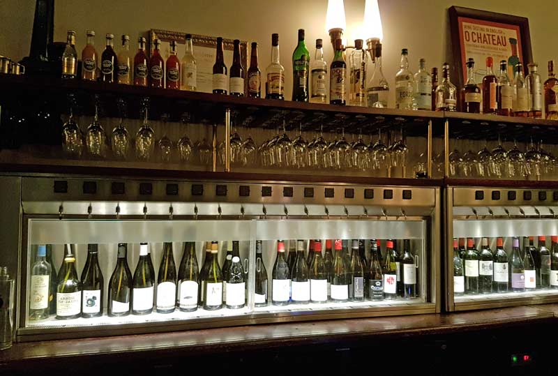 O Chateau's wine selection by the glass