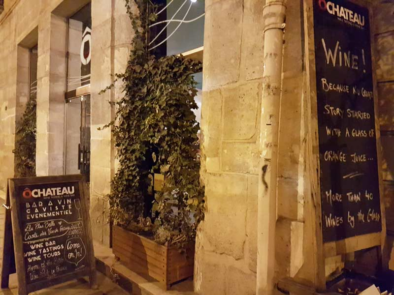 The O Chateau Paris wine bar