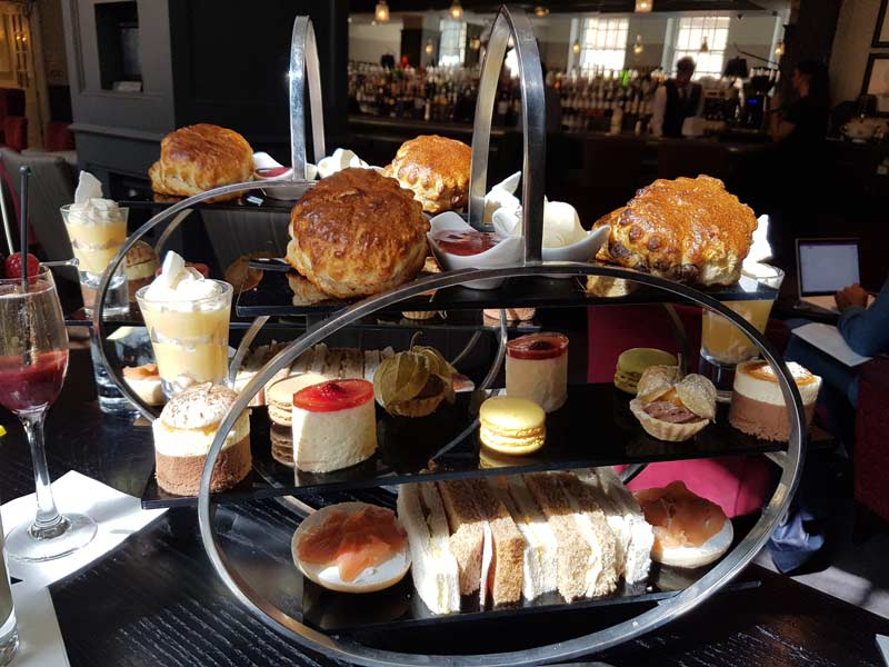 Afternoon tea at London Bridge Hotel