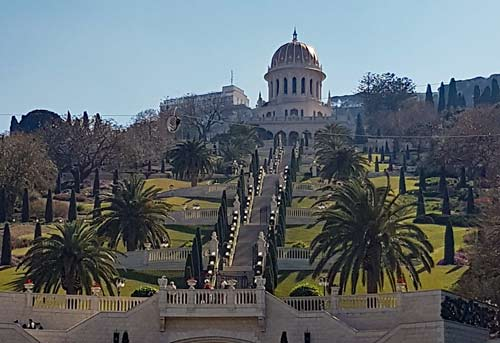 Bahai Gardens in Haifa, northern Israel