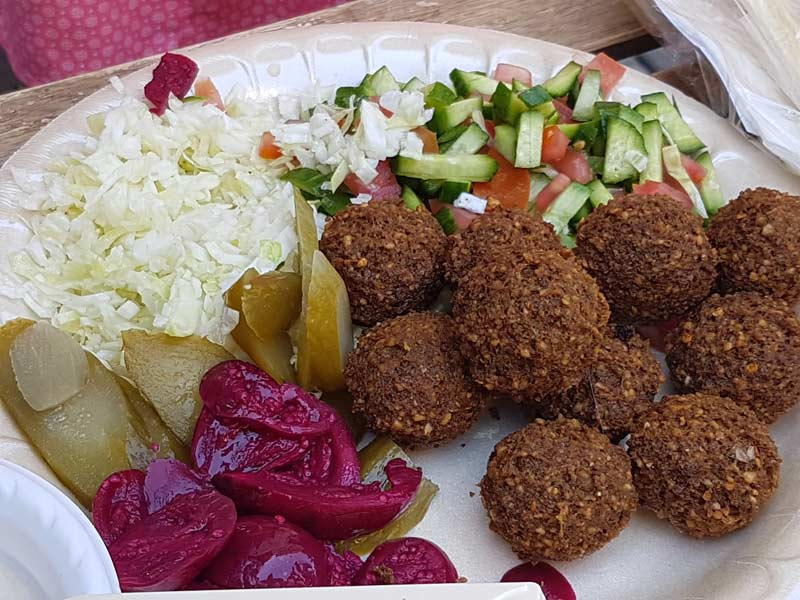 A fresh plate of Falafel from Falafel HaWadi Mishel
