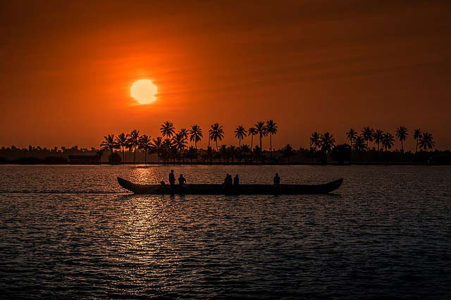 Kerala at sunset