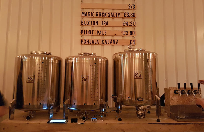 Old Street Brewery's beer selection