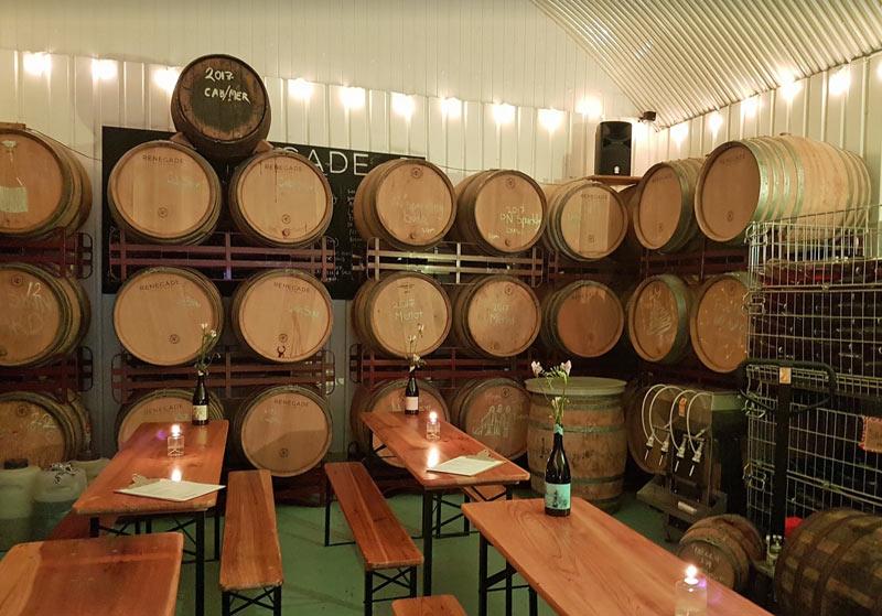 Renegade Winery's tasting room