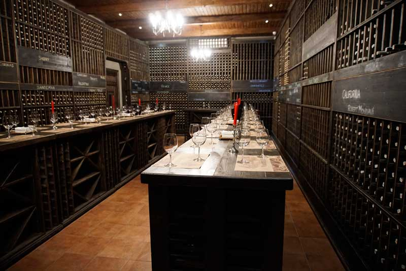 The wine tasting rooms at Chateau Vartely are a wine-lover's dream.
