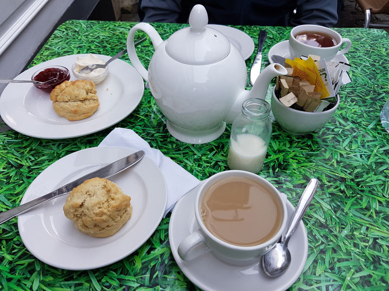 Cream tea at Limes is the perfect afternoon stop after visiting the castle.