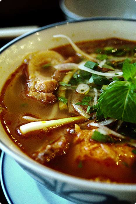 Bun Bo Hue is a delicious Vietnamese soup to try in Hoi An