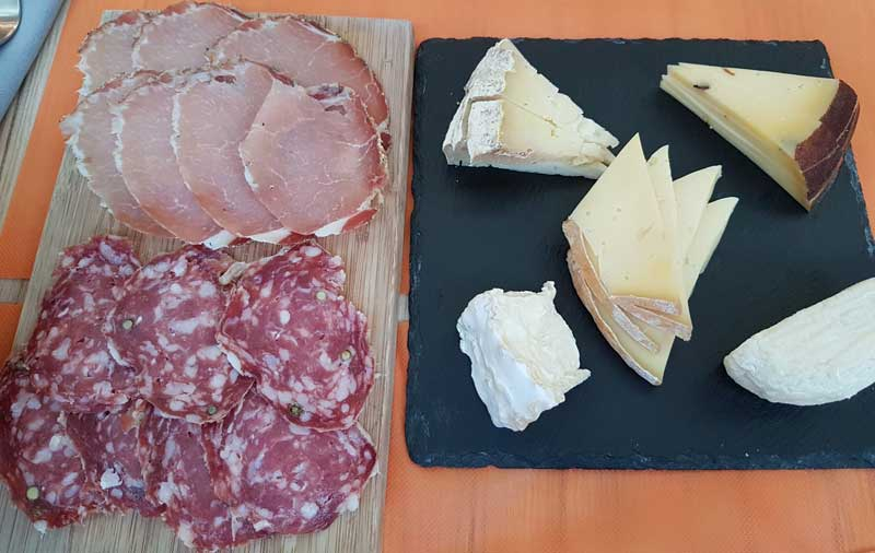 Cheese and charcuterie at Fromagerie Danard