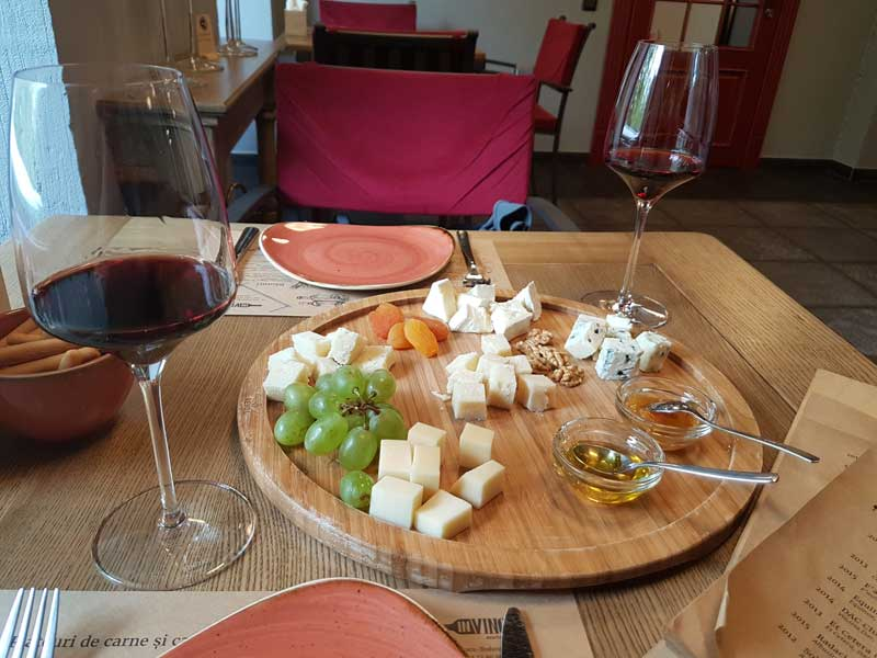 INVINO Enoteca cheese plate with wine
