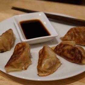 Delicious handmade gyoza