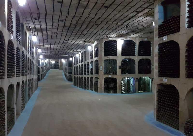 Milestii Mici's wine cellar