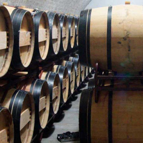 Purcari wine barrels