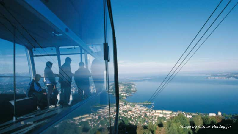 Pfander cable car and view