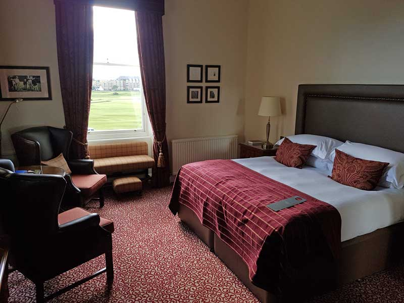 Bedroom of the Senior Suite at Macdonald Rusacks in St. Andrews