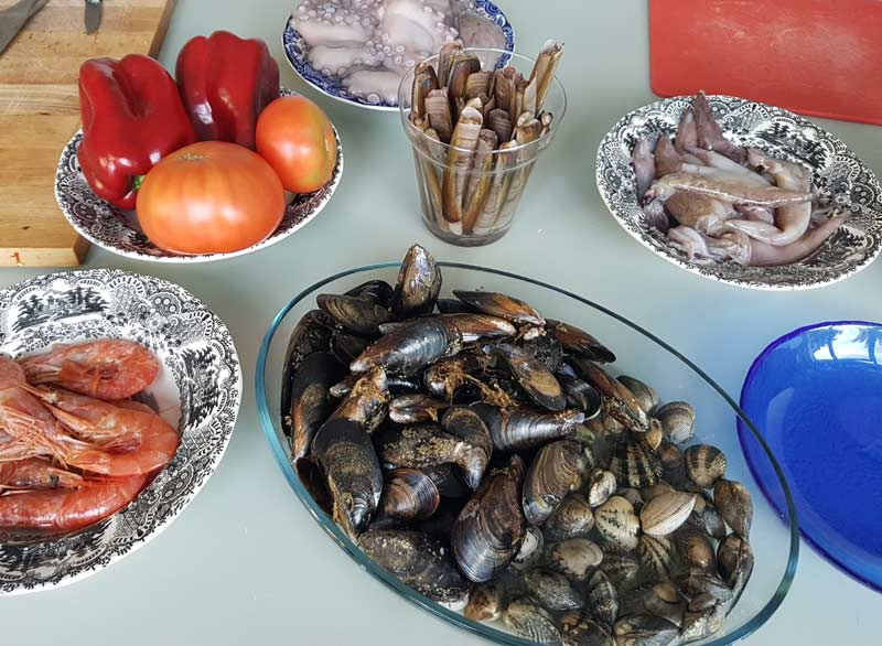 Mussels and other shellfish are in abundance in Galicia