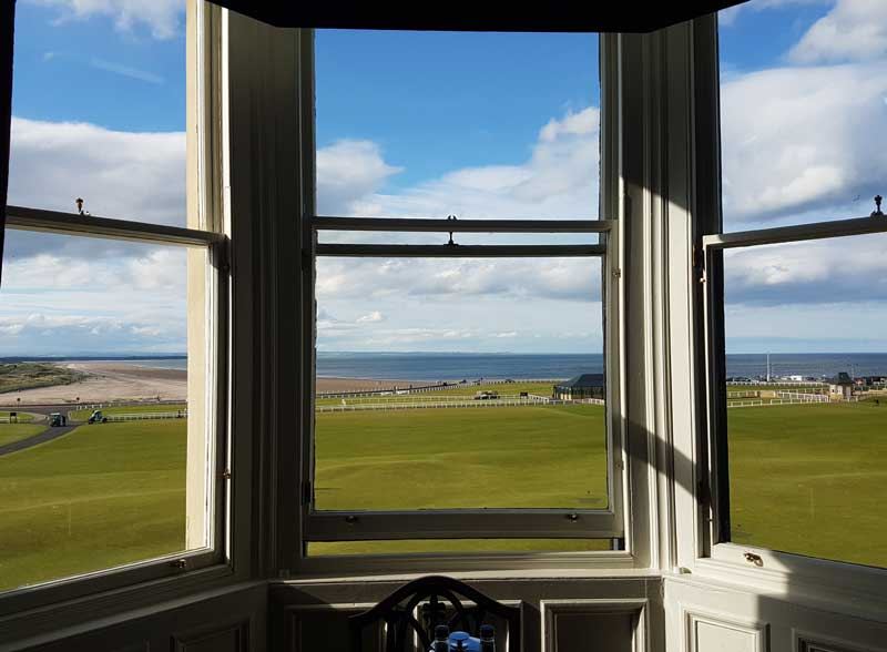 The View from a Senior Suite at Macdonald Rusacks in St. Andrews