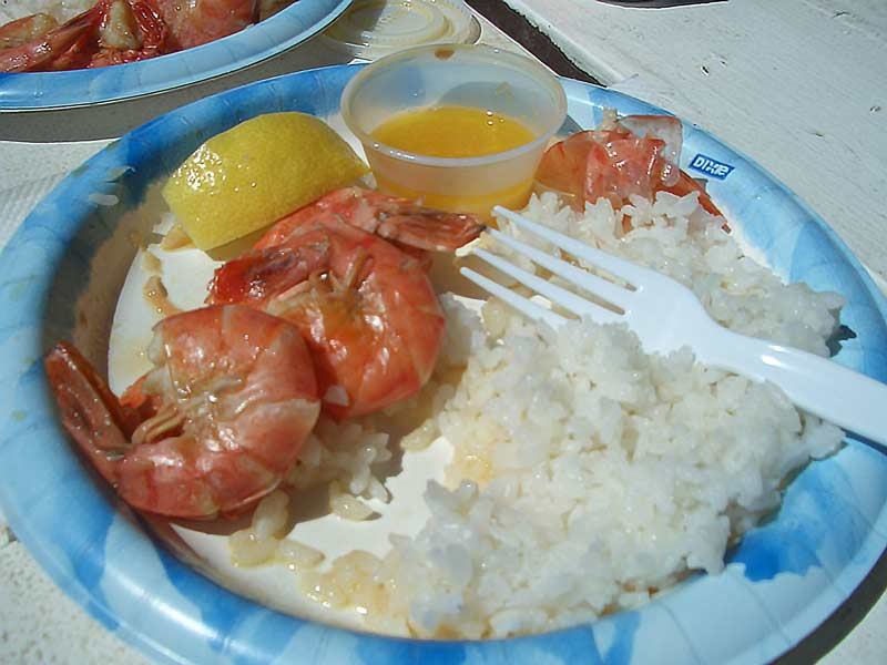 North shore food trucks serve awesome shrimp scampi