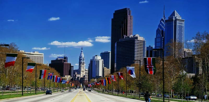 Benjamin Franklin Parkway in Philadelphia