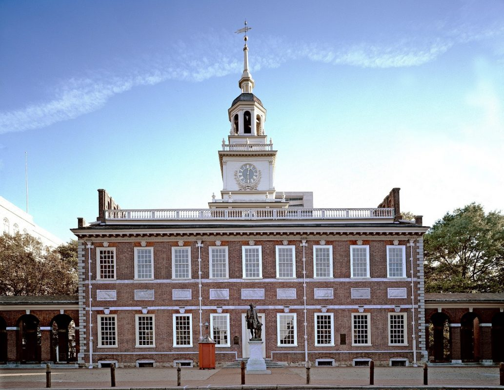 Independence Hall in Philadelphia's historic Center City