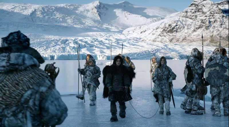 John Snow with the Wildings in Iceland
