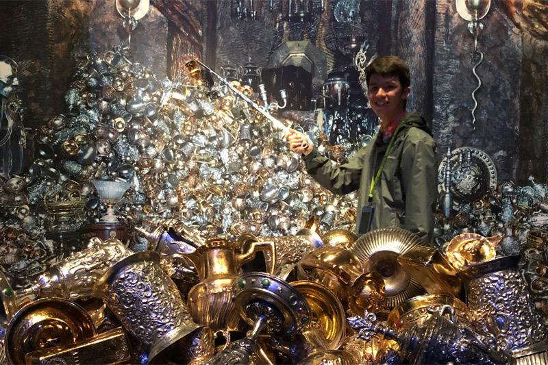 Vault with treasure