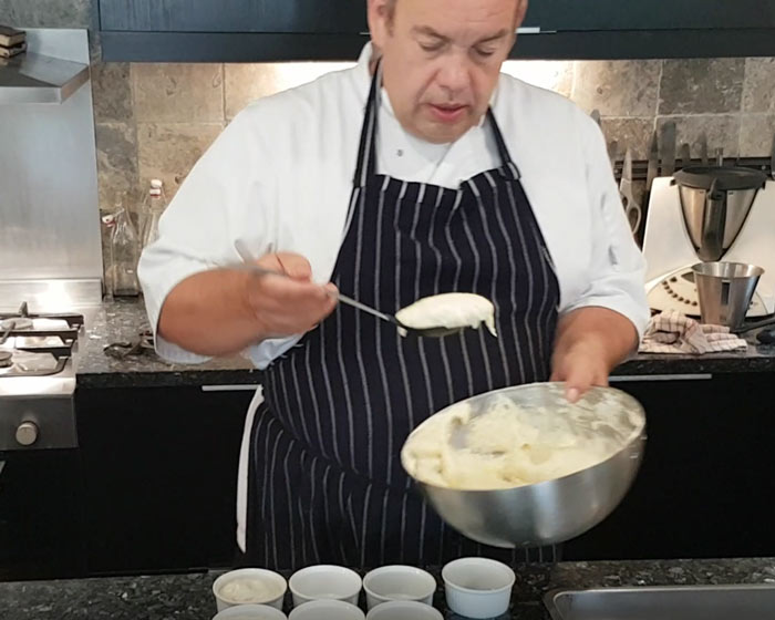 Chef Mike's cooking lesson