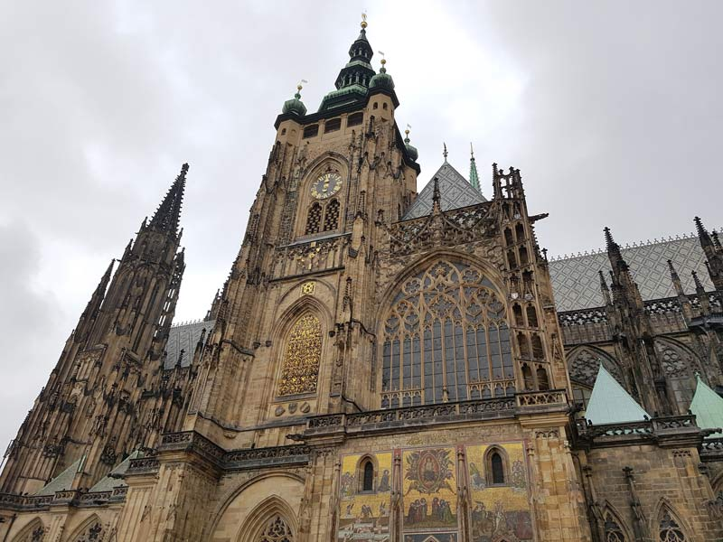 St. Vitus Cathedral inside the Prague Castle complex
