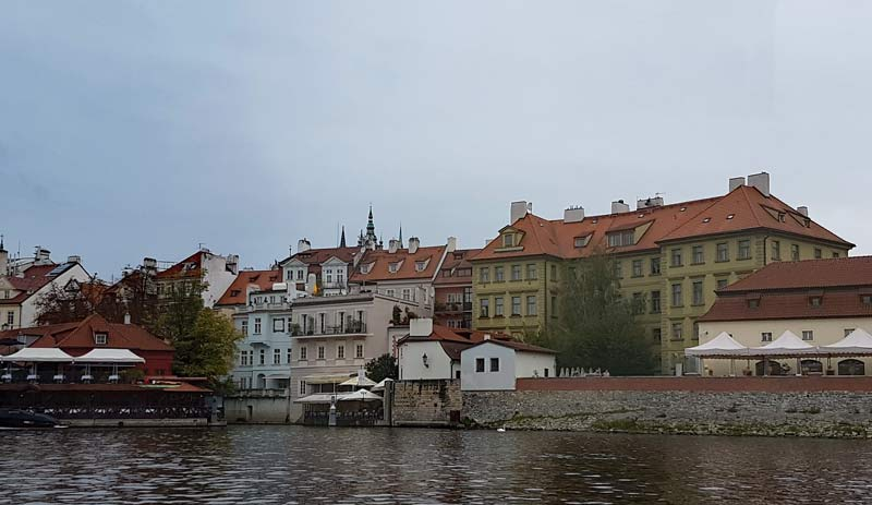 Prague from the Prague Venice Boat Tour