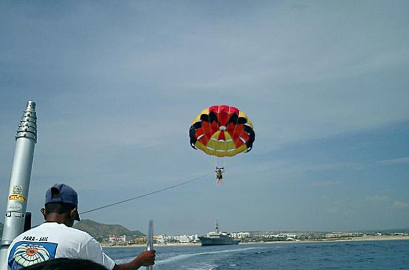 Parasailing in Cabo