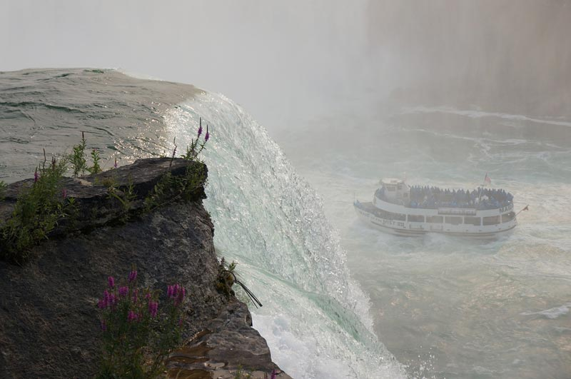 See Niagara Falls up close from the deck of a boat