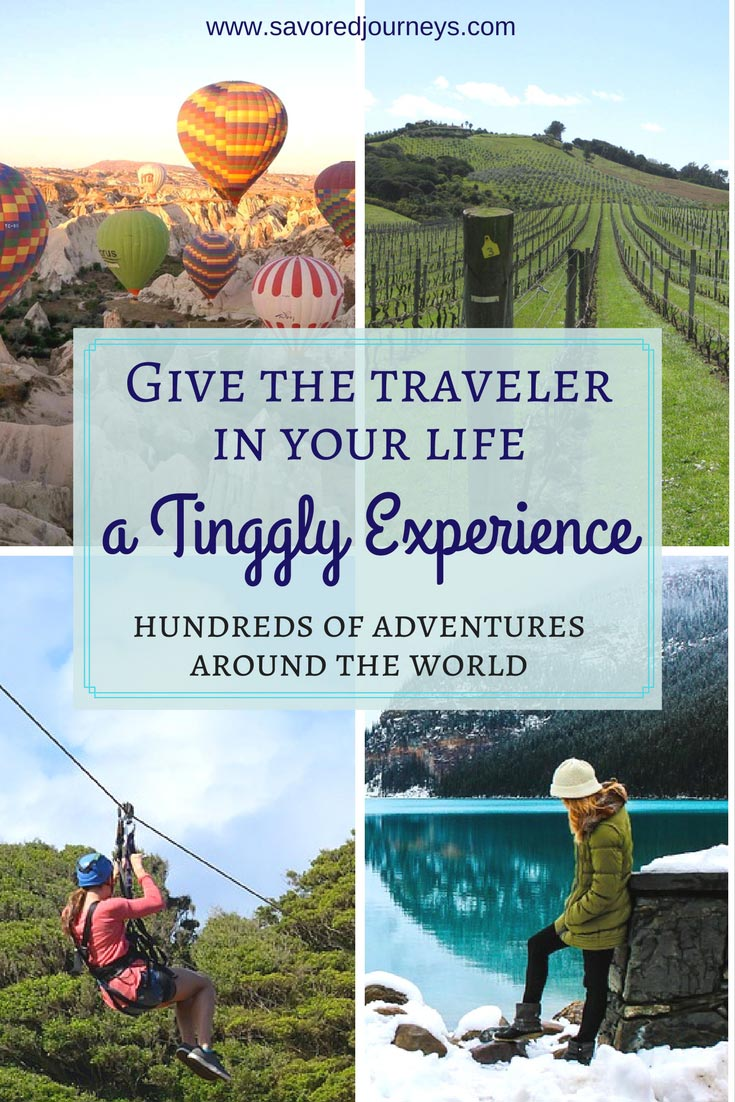 Give the gift of a Tinggly Experience. Your travel friend will love you!