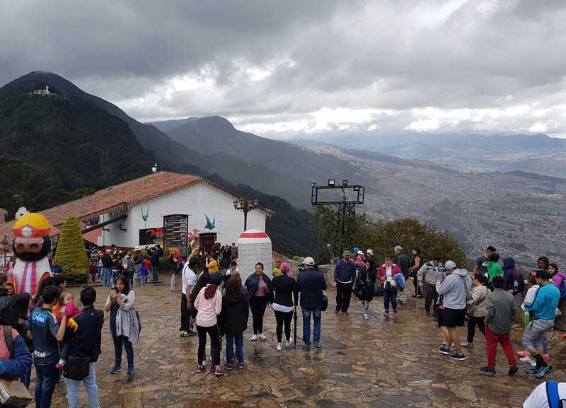 At the top of Mount Monserrate