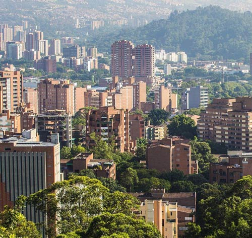 The view of Medellin