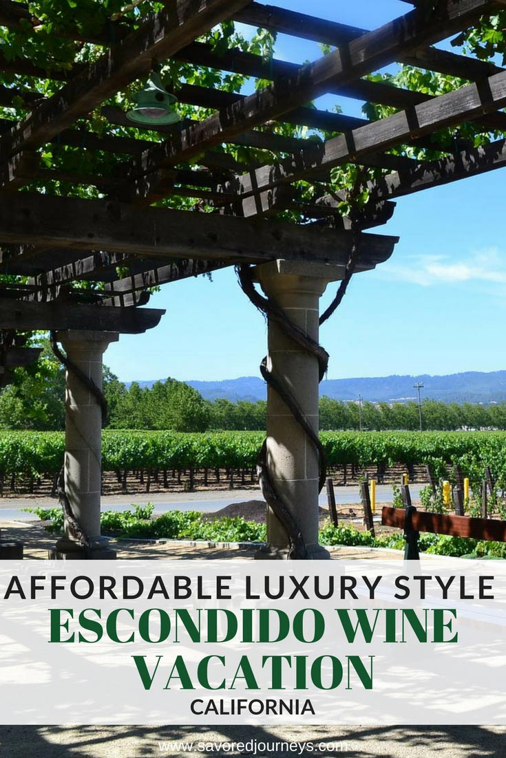 An affordable luxury style escondido wine vacation for Cheap cabin rentals southern california