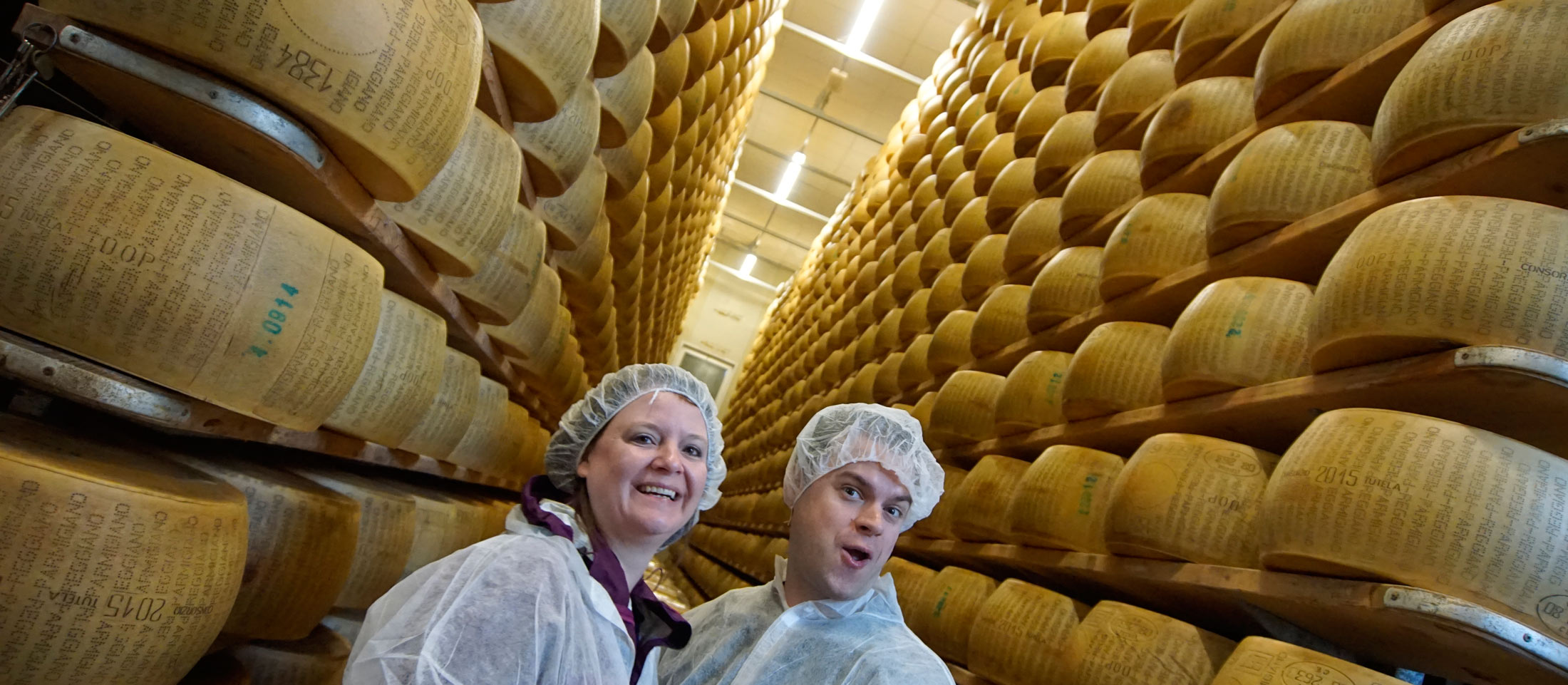 Food tour in Italy, parmigiano factory