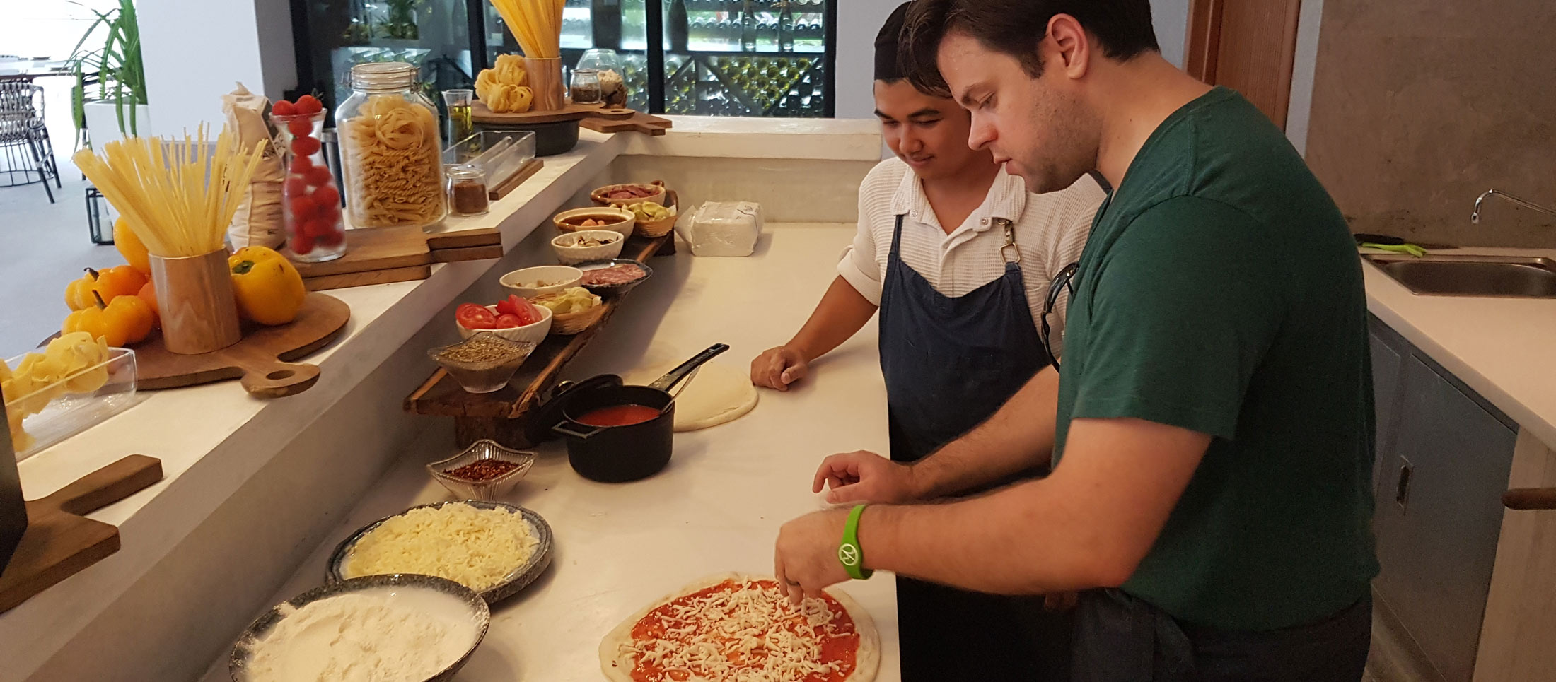 cooking class, pizza making class