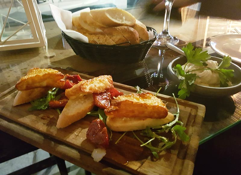 NOIR tapas bar hamoulli and hummus