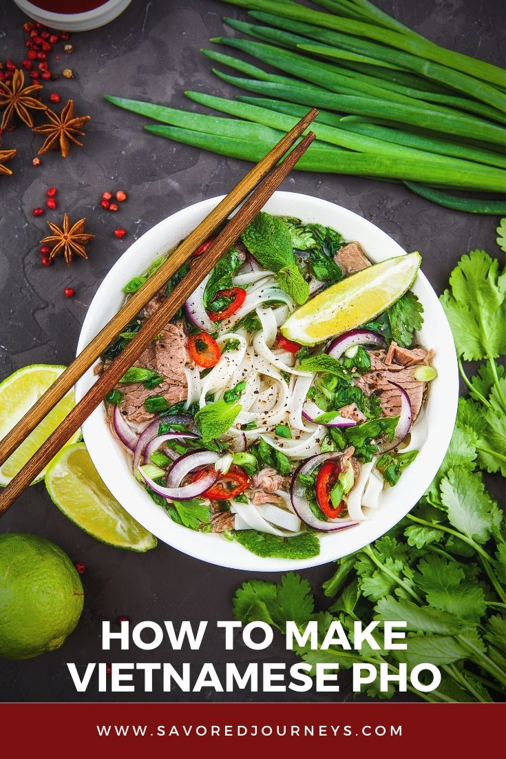 Vietnamese Pho is one of my favorite soups. The broth is so flavorful and warming. Learn how to make perfect Vietnamese Pho at home | Soup Recipe | How to make pho | Pho Recipe | Vietnamese Dish #soup #pho