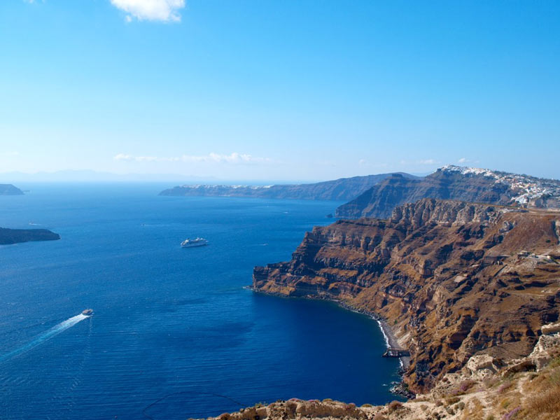View from the Santo winery in Santorini