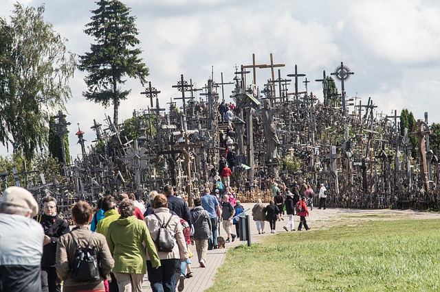 Hill of Crosses in Siauliai, Lithuania