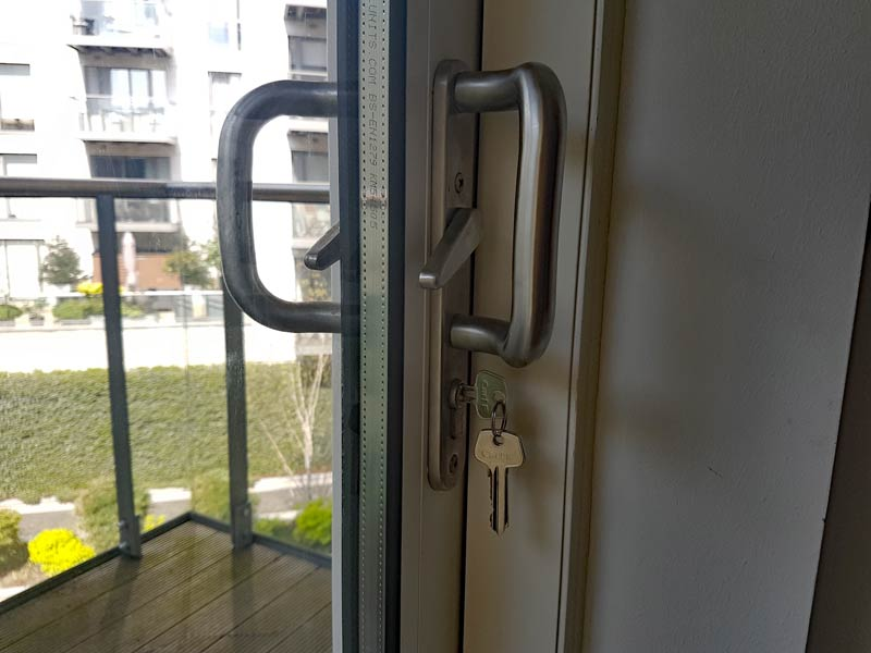 Make sure all doors are securely locked, especially sliding doors
