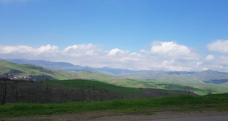 The view during the drive from Georgia to Armenia