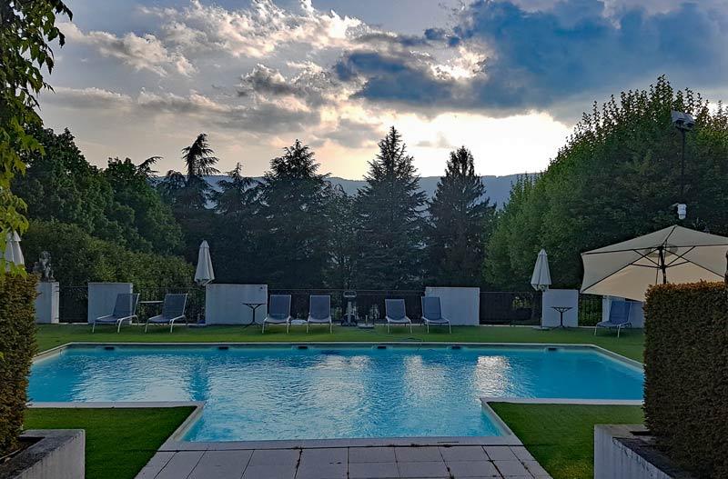 Chateau de Candie pool area