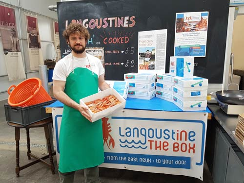 Langoustine in the box