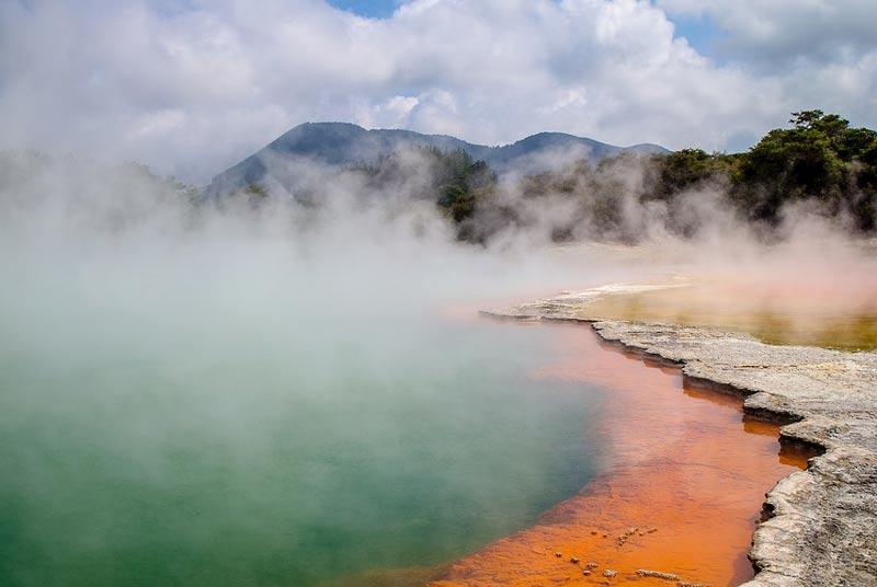Geothermal activity in Rotorua