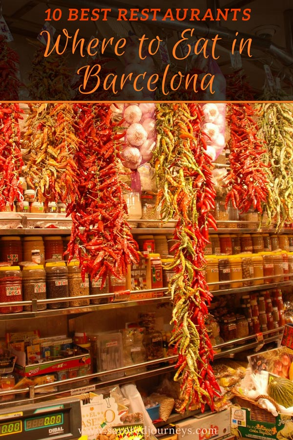 What to eat in Barcelona - try these top 10 restaurants