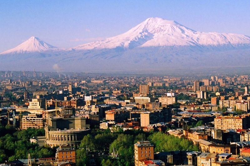Yerevan with Mountains