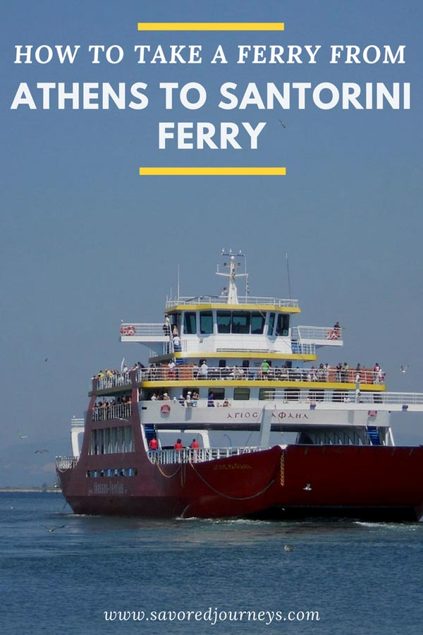 How to take the Athens to Santorini ferry