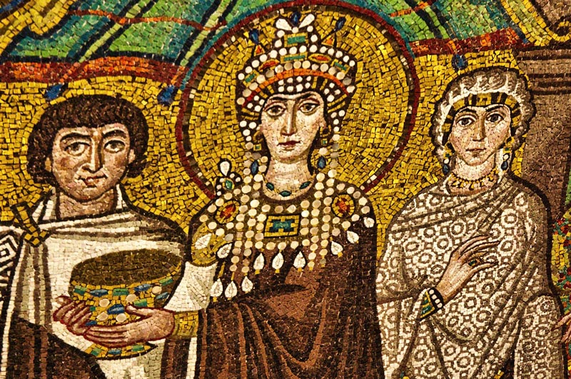 A mosaic in Ravenna, Italy